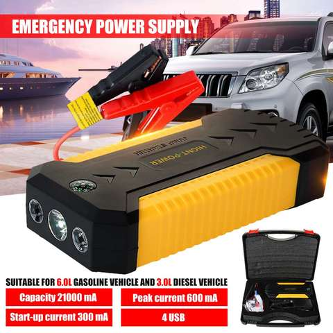 multifunction jump starter power bank 9000mah 12v 600a 4usb portatil impulsionador da bateria de carro