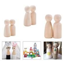 30 шт Деревянный кукольный колышек для Прорезыватель зубов diy