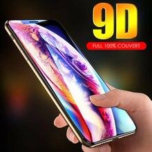 Verre Tremp protection cran For iPhone 6/6S 7/8 X XS XR 11 12 Pro Max Mini SE 9D