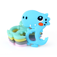 Keep&Grow 1pc Silicone Dinosaur Teether Food Grade Rodents Baby Teethers Silicon