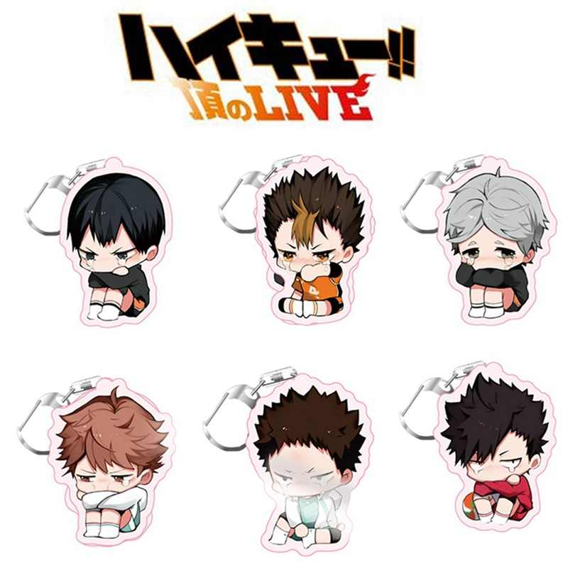2020 New Volleyball boy Key Chain Ring Anime Haikyuu!! Keyring Cute Cartoon Keychain sleutelhanger