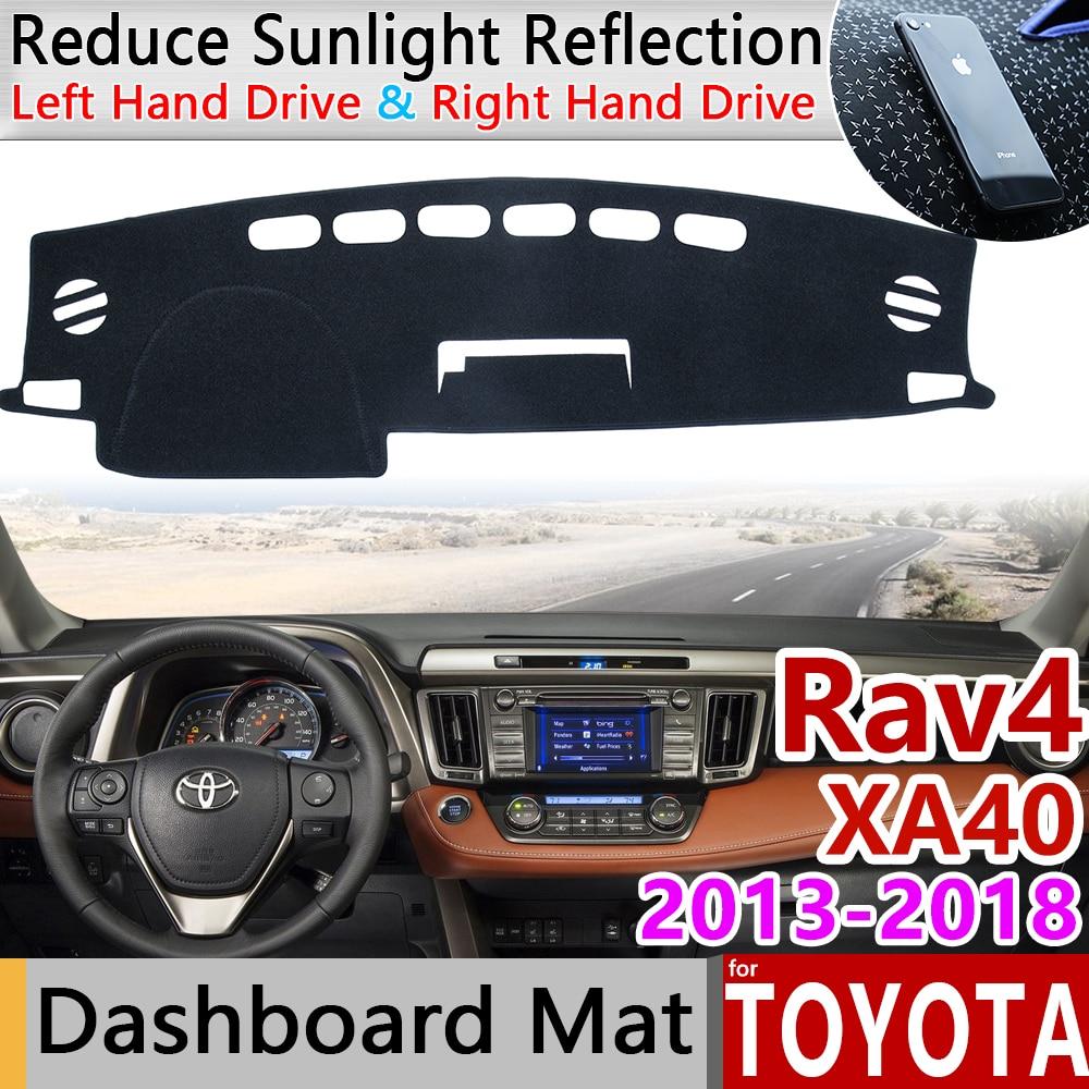 Для Toyota Rav4 XA40 2013 ~ 2018 для Toyota Previa RAV 4 40 Нескользящая ткань с ромбовидным рисунком панель управления панельная крышка приборной аксессуары 2014 ...
