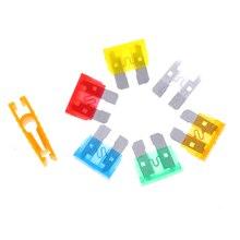 1Pc Fuse Clip And 6Pcs Standard Car Fuse Inserts Medium Fuse Plastics Fuse Clip