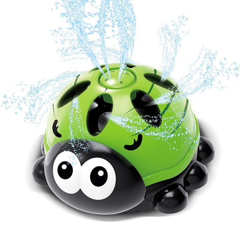 Outdoor Water Spray Sprinkler For Kids Backyard Spinning Ladybug Sprinkler Toy