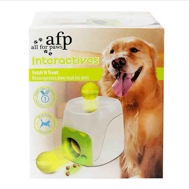 Interactive Toy Dog Training - Funny Tennis Ball Launcher Pet Food Reward Toy 4