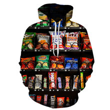 2019 New Delicious food French fries/chocolate/chicken 3D print Hoodie 2019 New Style Fashion Mens/Womens Hooded Sweatshirt