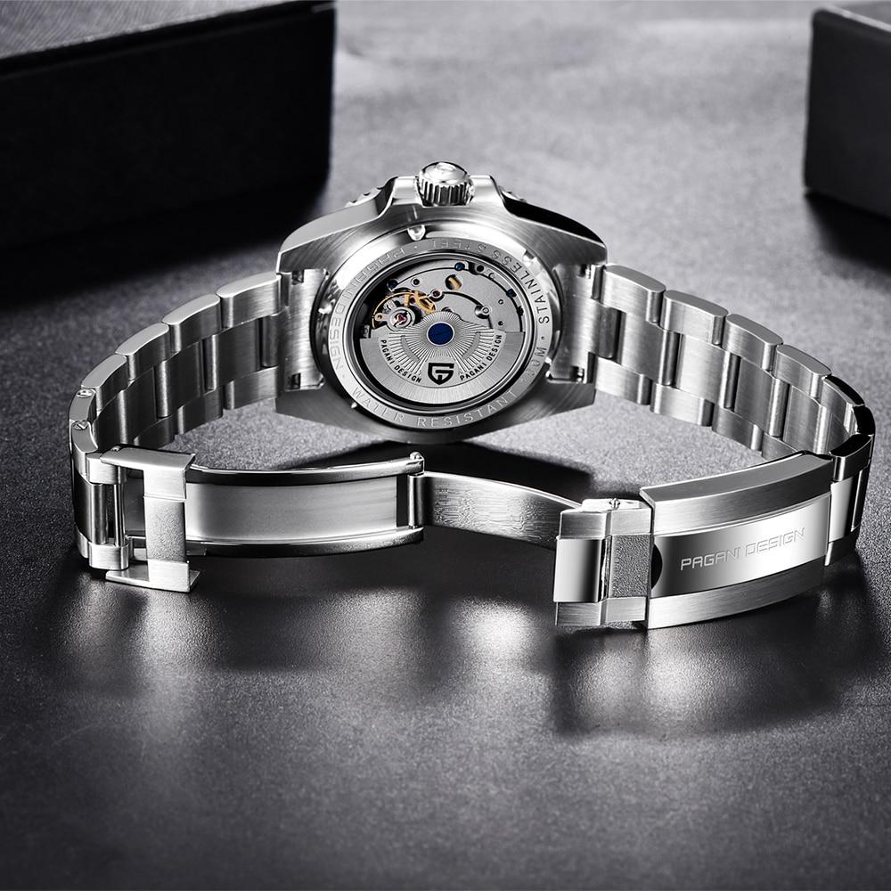 PAGANI DESIGN 2020 Luxury Men Mechanical Wristwatch Stainless Steel GMT Watch Top Brand Sapphire Glass Men Watches reloj hombre 4