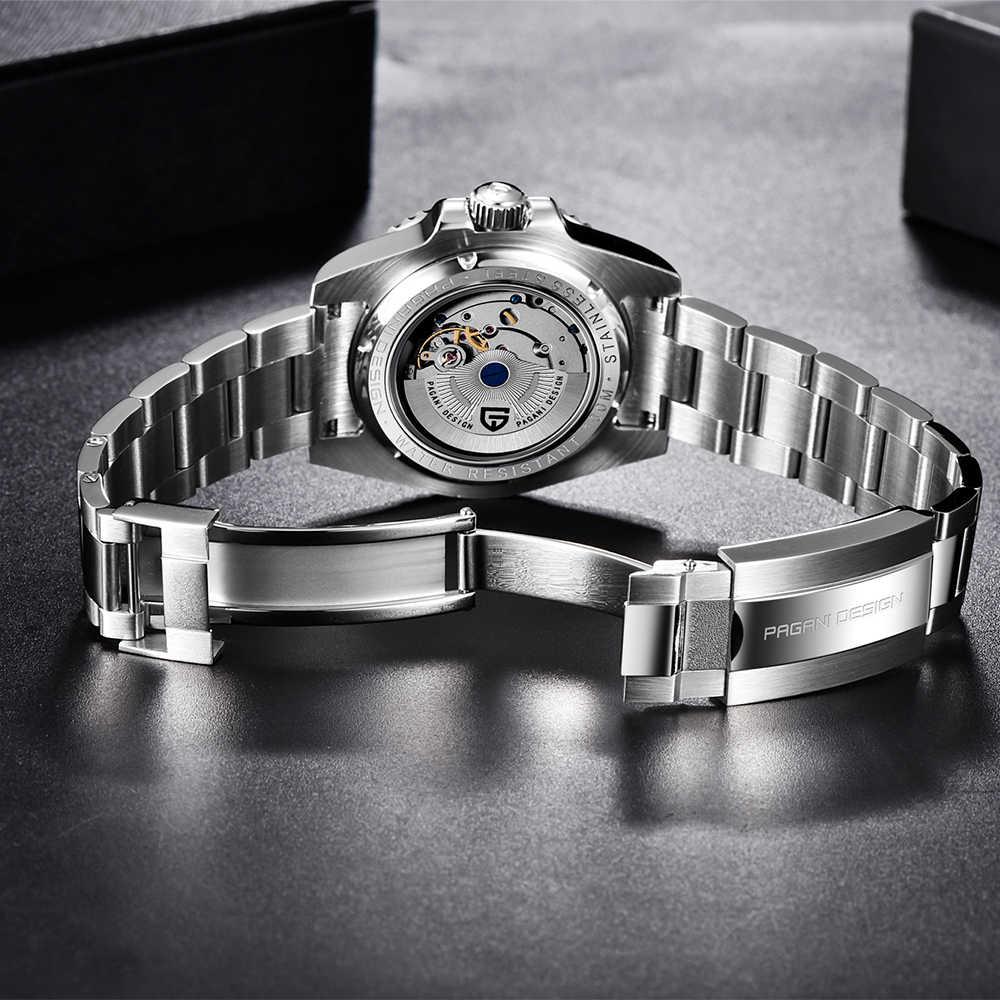 パガーニデザイン 2020 高級メンズ機械式腕時計ステンレス鋼gmt腕時計トップブランドサファイアガラスメンズ腕時計リロイhombre