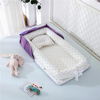 Przenośne łóżeczko dziecięce łóżeczko dziecięce łóżeczko dziecięce łóżeczko dziecięce łóżeczko dziecięce poduszka do spania tanie i dobre opinie Tkaniny 85*45 cm b001 0-3 M 4-6 M 7-9 M 10-12 M Cartoon
