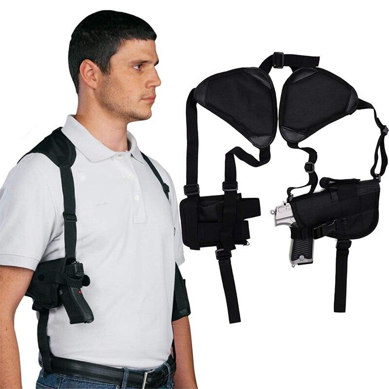 Funda táctica Universal oculta para el hombro, para Glock 17, Beretta M92, Airsoft, pistola oculta, ajuste con bolsa para revistas