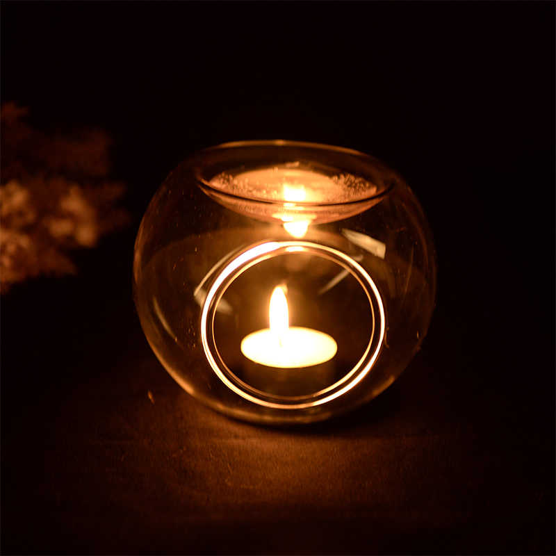 Diameter=10cm Glass Incense Burner Candle Holder Transparent Glass Household Incense Burner Essential Oil Lamp Glass Aroma stove