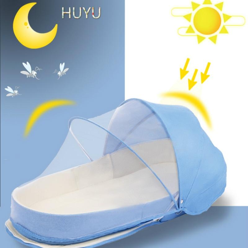 cama de bebe viagem com protecao solar 01