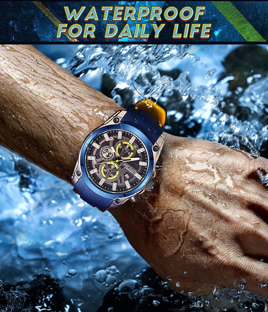 H60647c117a4d46648e30f96632bf45f2i MEGIR 2020 Blue Sport Watches for Men