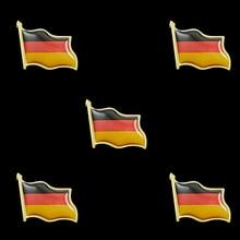 5PCS Antique Germany Patriotism Country Flag Souvenir Lapel Hat Tie Brooch Pin Badge 5pcs estonia estonian country flag lapel clothes hat cap tie pin badge brooch accessories