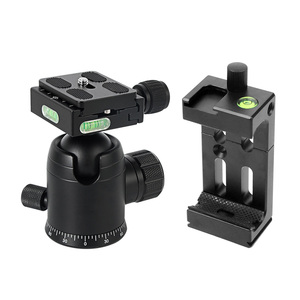 Image 2 - BGNing 360 Degree Panorama Ball Head Tripod Camera Mount Stand  Phone Holder Clip XJ 8 Flashlight Microphone With Spirit Level