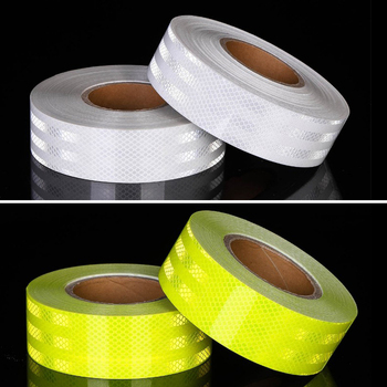 5cm X 10m  Safety Mark Reflective tape stickers car-styling Self Adhesive Warning Tape Automobiles Motorcycle Reflective Film 5cmx3m safety mark reflective tape stickers car styling self adhesive warning tape automobiles motorcycle reflective material