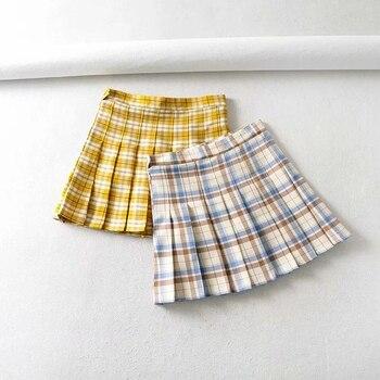 College style short skirt half skirt high waist uniform girl pleated skirt high waist and hip raising skirt trend skirt moe skirt