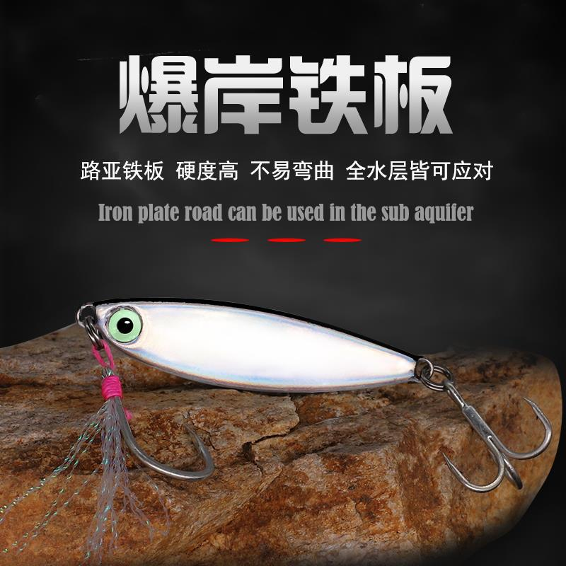 Bassland New Long Casting Spoon Fishing Metal Micro Jig Fishing Lures Lead Jig Pesca Leurres Sea Fishing Bass Trout