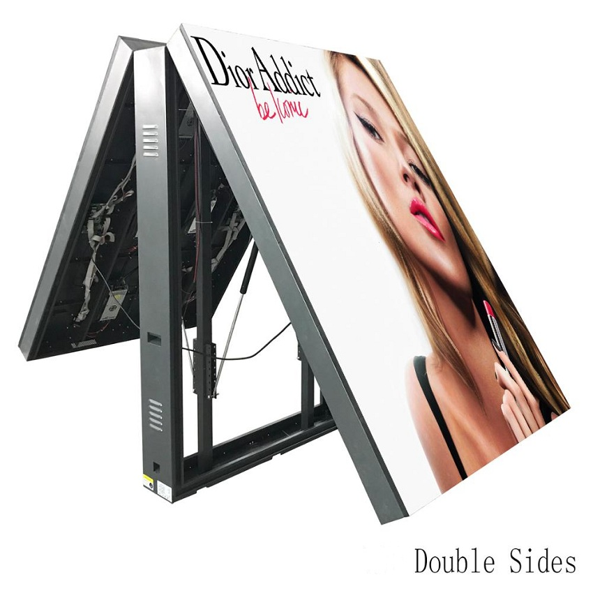 Outdoor P3.91 LED Display 1000x500mm Double Side Waterproof Iron Cabinet Led Display Screen Billboard