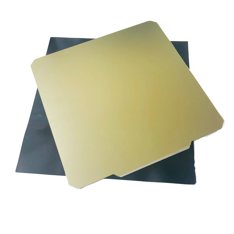 Enérgico 220x220mm hoja de acero de resorte + superficie de construcción PEI + Placa de cama caliente magnética para impresoras Wanhao i3 Anet A8 A6 Ender 5 3D