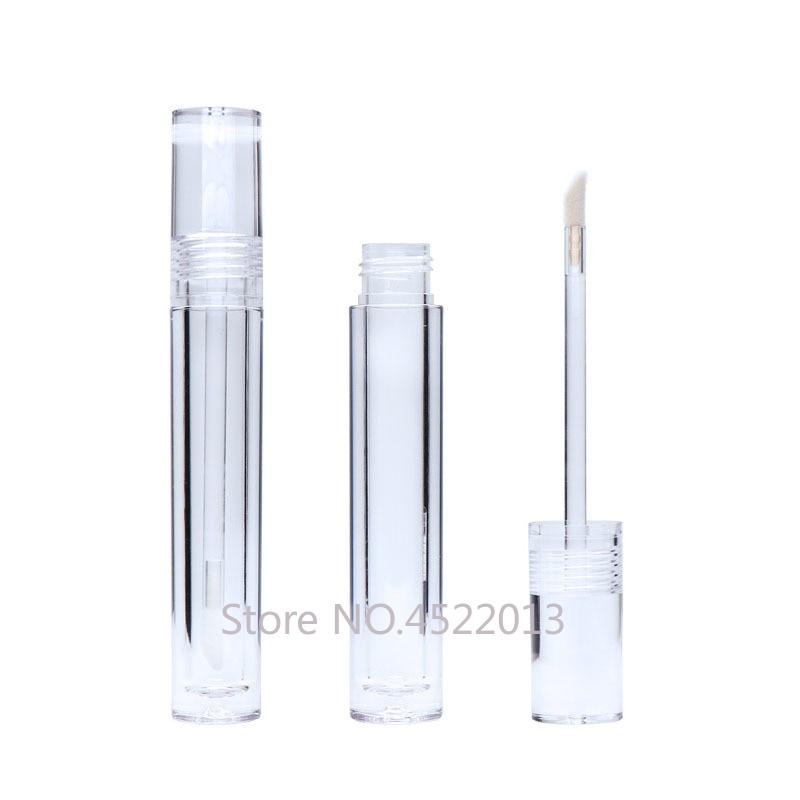 Прозрачный прозрачный блеск для губ контейнер для губ 5,5 мл губная помада пустая 25/30/50 штук прозрачная губа многоразового пополнения блеск т...