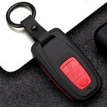 цена на Carbon Fiber Silicone Key Case for car For Audi A3 8L 8P A4 B6 B7 B8 A6 C5 C6 4F RS3 Q3 8L 8V S3 B9 Q5 Q7 TT TTS 8 S keychain