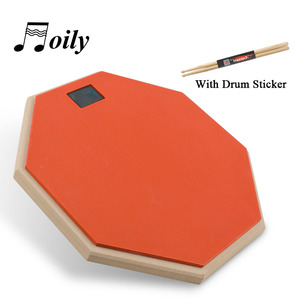 Image 5 - 8 Inch Rubber Wooden Dumb Drum for Beginner Practice Training Drum Pad Stand and drumstick for Percussion Instruments Parts