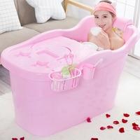 Bath Barrel Adult Household Plastic Tub Extra Large Thick Bath Tub Double Bathtub Reclining Bath Barrel Folding