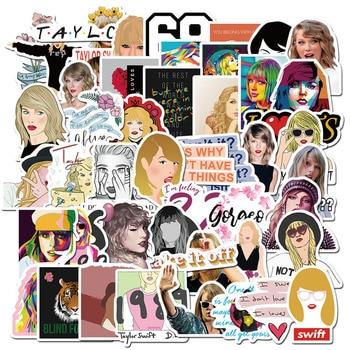 10/30/50pcs Taylor Alison Swift Stickers Waterproof PVC Luggage Skateboard Guitar Stationery Graffiti Singer Sticker Kids Toys