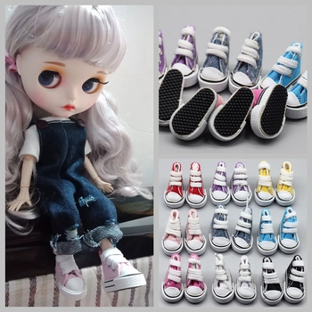 3.5cm Canvas Shoes For Blyth Doll Fashion Mini for Russian DIY handmade doll Accessories