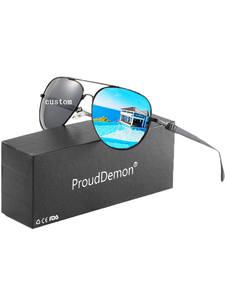Sunglasses Pilot Driving Custom Customized-Logo-Design Printed Aluminum Women Polarized