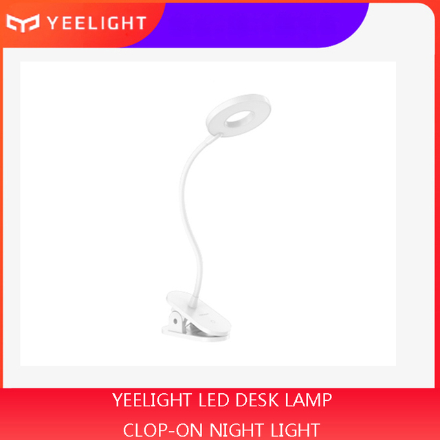 Yeelight LED Clip Lamp Clip On Night Light USB Rechargeable 5W 360 Degrees Dimming Reading Lamp For Bedroom