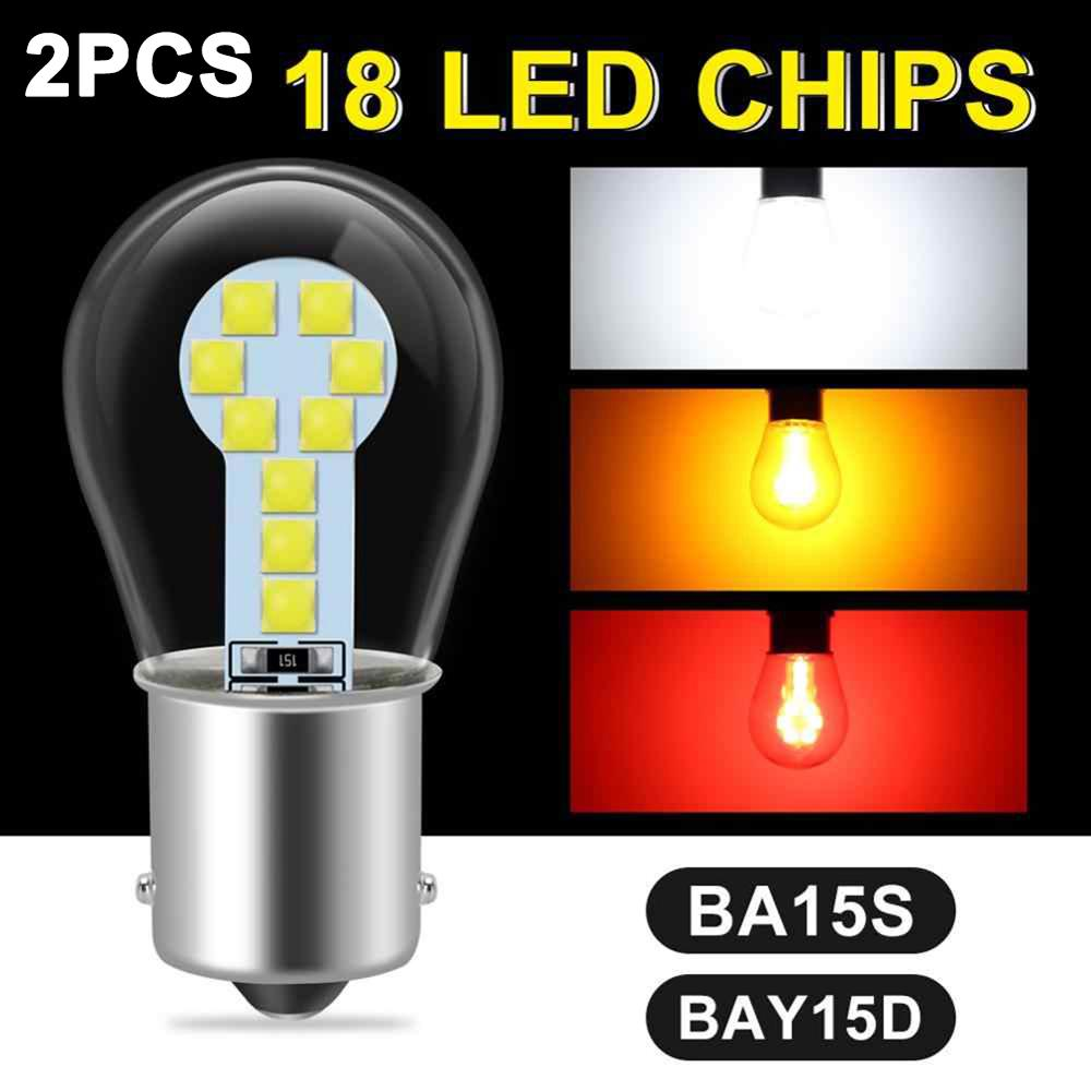 12 V 15 W Car LED Bulb High Brightness SMD 3030 Chips 1156/BA15S 1157/BAY15D LED Replacement Light Bulb Car Accessories