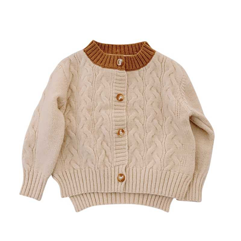 Baby Winter Cardigan Long Sleeve Warm Sweater Button V-Neck Cloth
