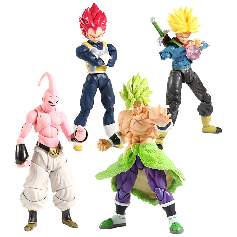 SHF Dragon Ball Super Broly SSG Super Saiyan Vegeta Trunks Evil Majin Buu PVC Action Figure Collectible Model Toy