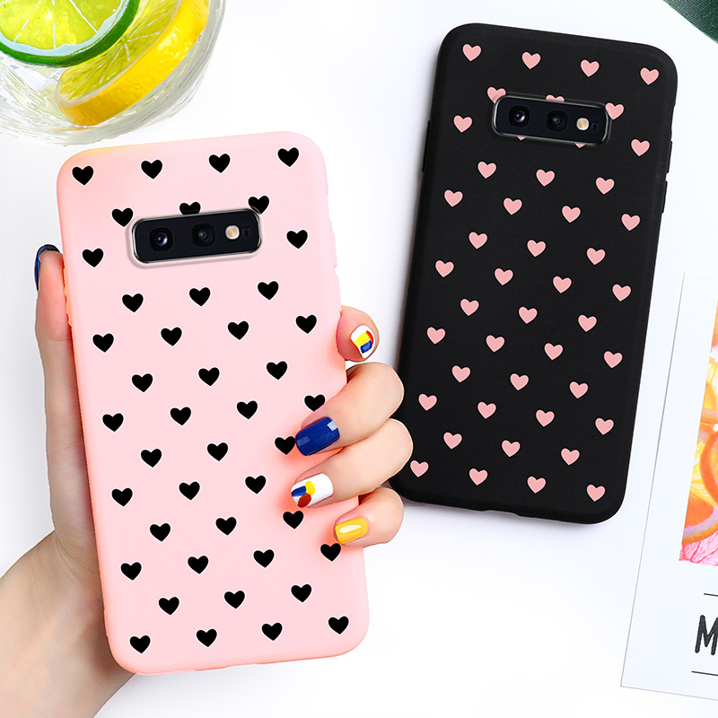 Love Heart Candy Case For Samsung Galaxy S10 Lite Samsung Galaxy S10e S10 Youth G9700 G970F 5.8 inch Covers Silicone Soft TPU image