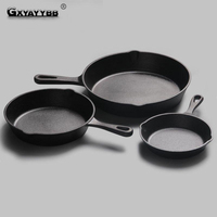 16cm 20 Cm Black Mini Not Sticky Casting Iron Pan Stone Layer Frying Pot Saucepan Small Fried Egg Pot Use Gas & Induction Cooker