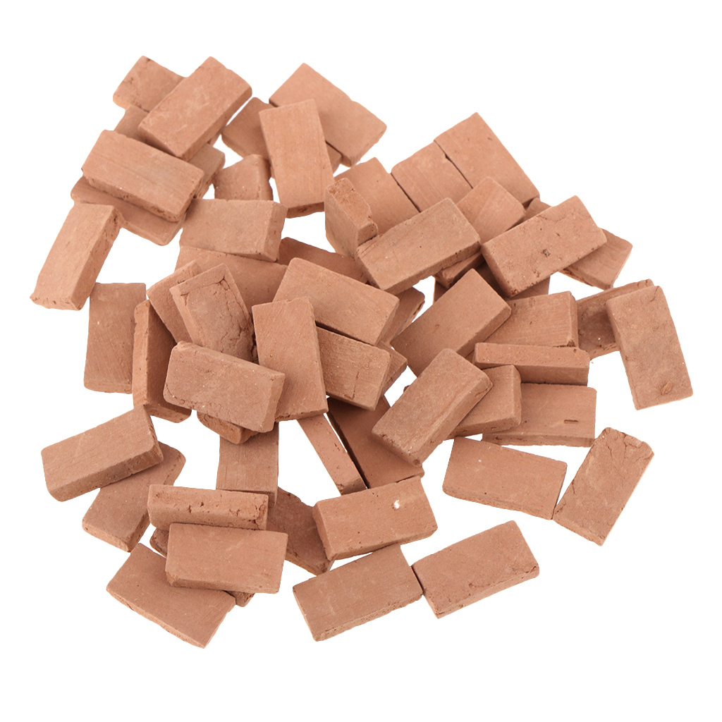 50 Pieces 1/35 Scale Simulation Miniature Porcelain Red Brick Model Toy Sand Table Building Diorama Scenery Sand Scene Scenery