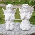 Статуи ангелов, Европейская смола, белое золото, милый купид, ангел, украшение, фигурка, Уличный дом, рабочий стол, молитвенный Cherub, восхитите...