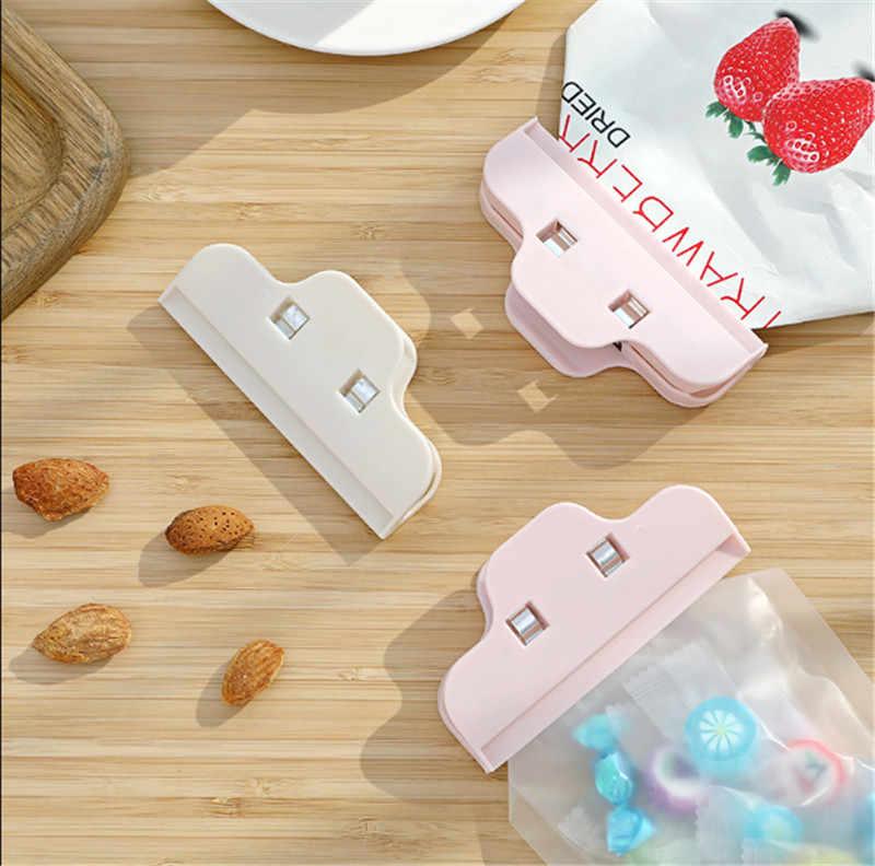 נייד פלסטיק חותם קליפים מטבח חטיף איטום מהדק Moistureproof שמירה טרי אוטם מזון אחסון תיק קליפ מטבח כלים