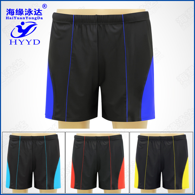 Factory Price Beach Casual Hot Springs Lard-bucket-Mixed Colors Bathing Suit Swimming Trunks Extra Large Men Loose-Fit Swimming