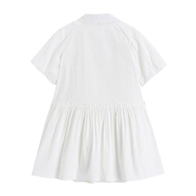 Fashion Elegan White Mini Dress Women Short Sleeve Summer Party Birthday Festival Sweet Cute Sexy French Romantic Vintage Dress 4