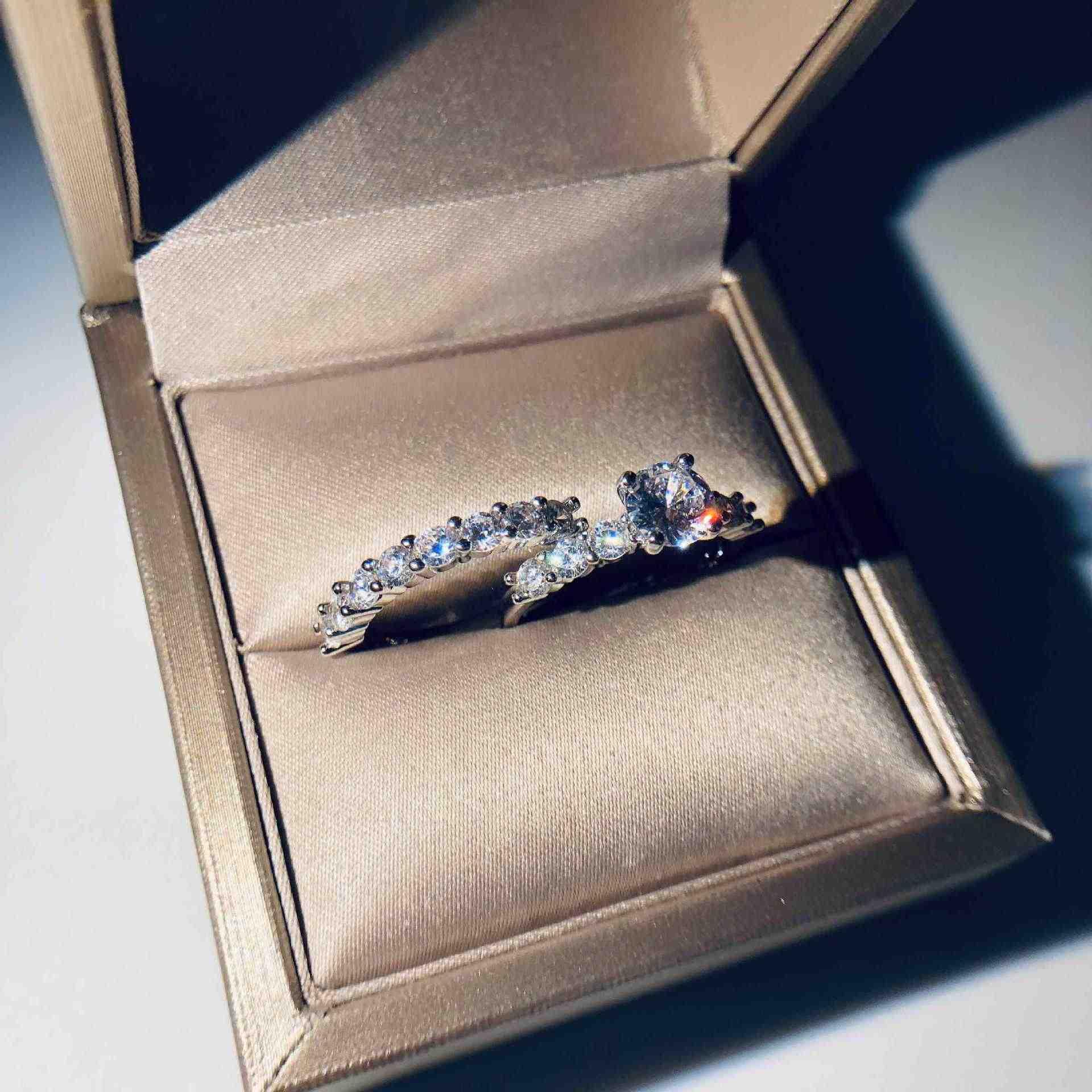 2/PCS ขายร้อนแหวน,ชุดแหวน, ยอดนิยมฝังแหวนแฟชั่นในยุโรปและอเมริกาแหวนชุดเครื่องประดับ