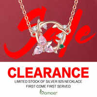 Clearance 925 Sterling Silver Necklace for Women High Quality Luxury Brand Fashion Jewelry Bijoux
