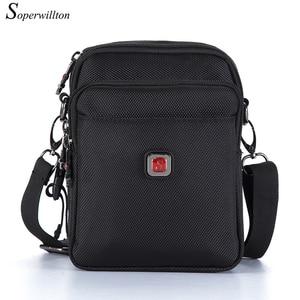 Image 1 - Soperwillton Mens Bag Shoulder Crossbody Bags Oxford Water resistent Travel Belt Bags Men Zipper Bag Male #10452