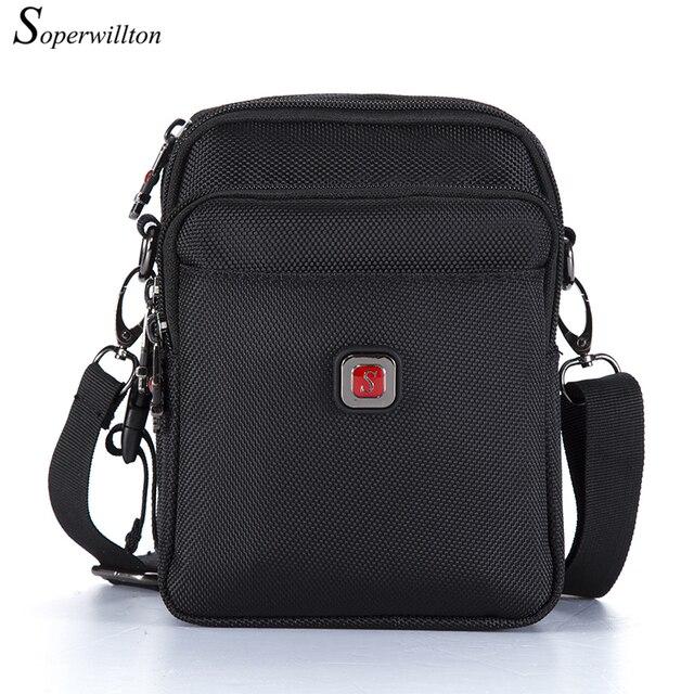 Soperwillton Mens Bag Shoulder Crossbody Bags Oxford Water resistent Travel Belt Bags Men Zipper Bag Male #10452