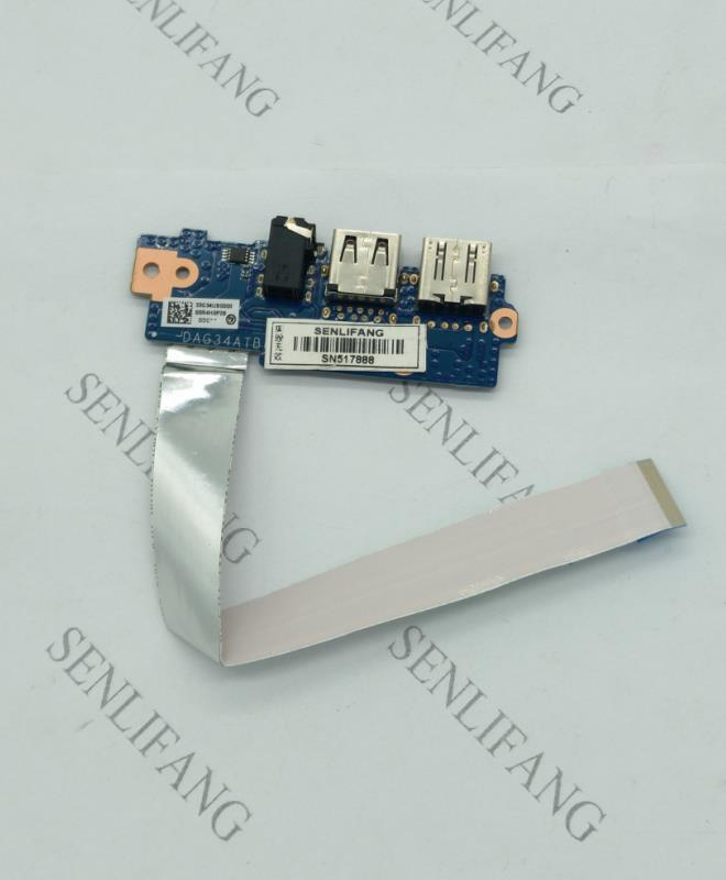 Free Shipping Original FOR HP Pavilion 15-AU 15-AU020WM USB / Audio Board DAG34ATB6D0 100% Test Ok