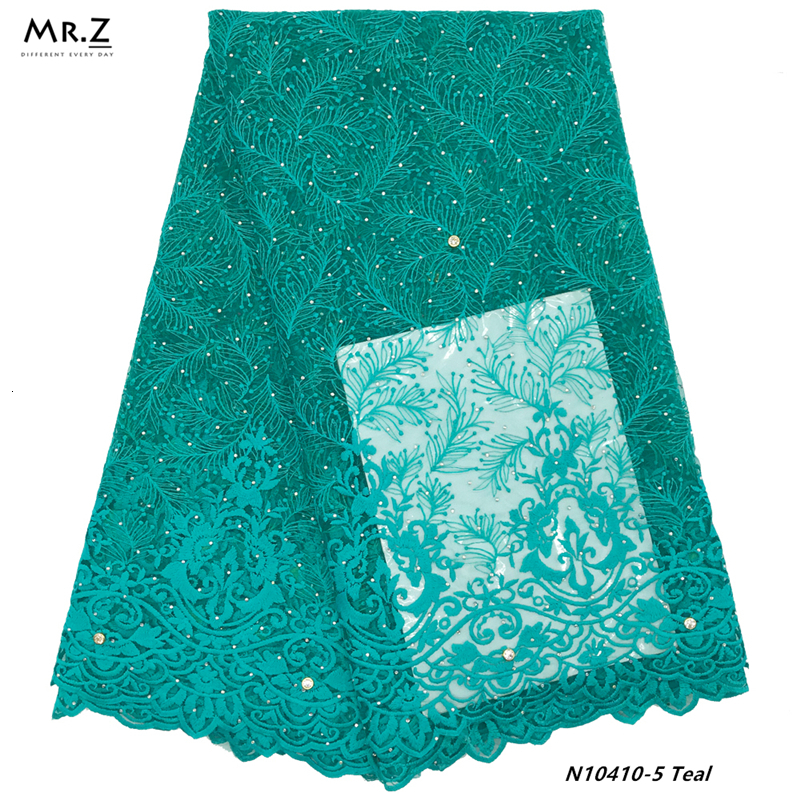 Mr.Z Embroidered French Mesh Lace Fabric Latest 2019 Nigerian Lace Fabric High Quality Wedding African Lace Fabric 5 Yards
