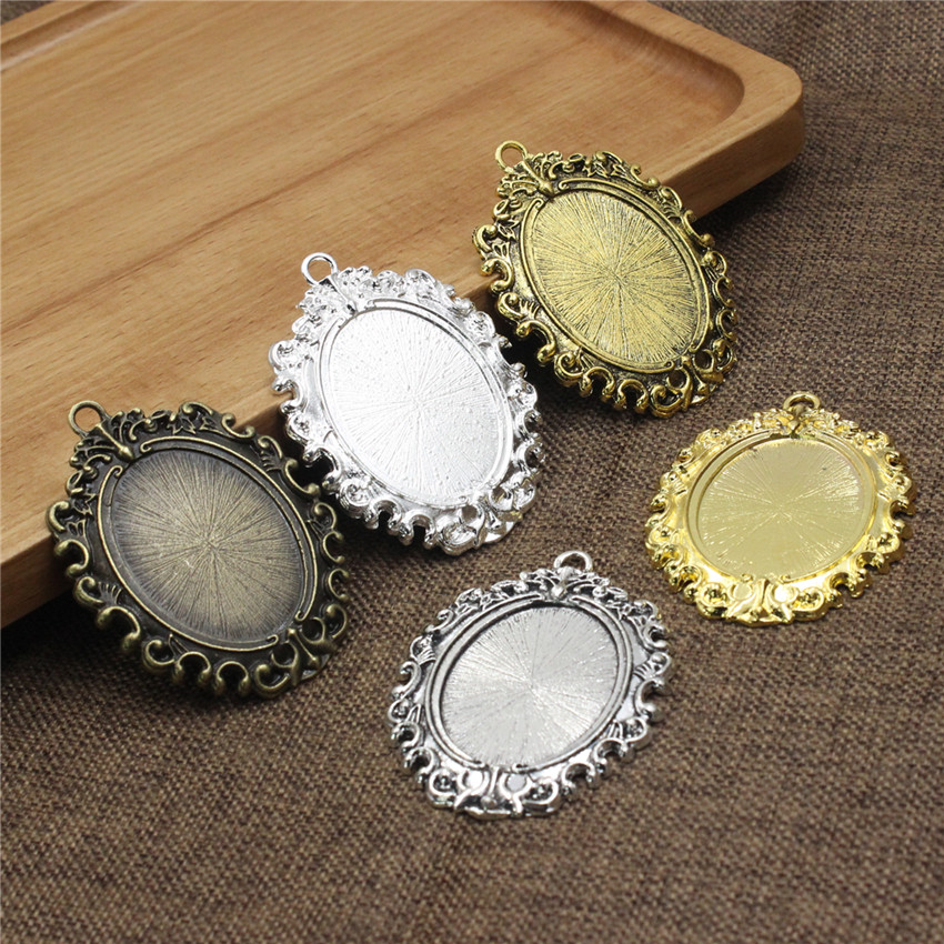 4 x  Silver plated filigree square cabochon ring setting Fits 12mm glass