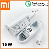 Original Xiaomi Mi 9 SE cargador rápido QC 3,0 adaptador de alimentación de carga rápida USB Cable de tipo C para mi8 9 se 9t a2 a3 redmi note 7 8 pro